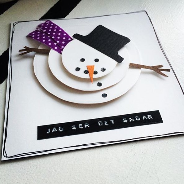 Absolutely Chic Handmade Snowman Card
