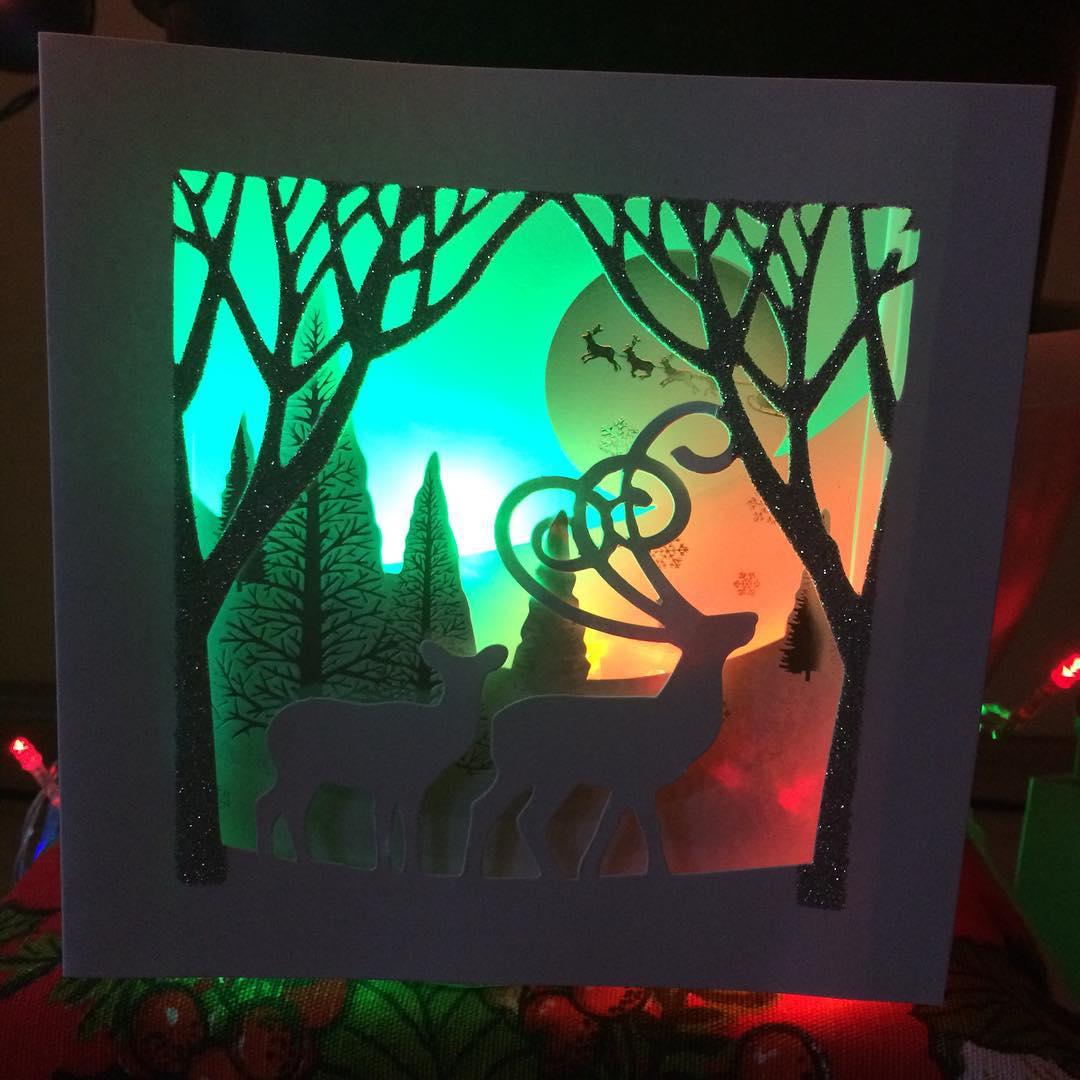 Artistic Christmas Card Design
