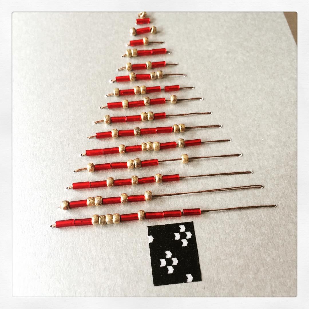 Beads Christmas Tree Card