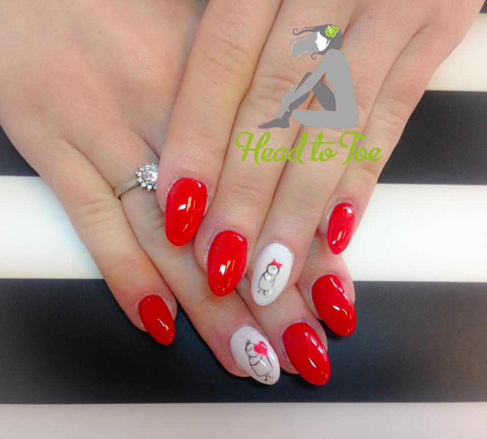 Blooming Red Valentines Nails