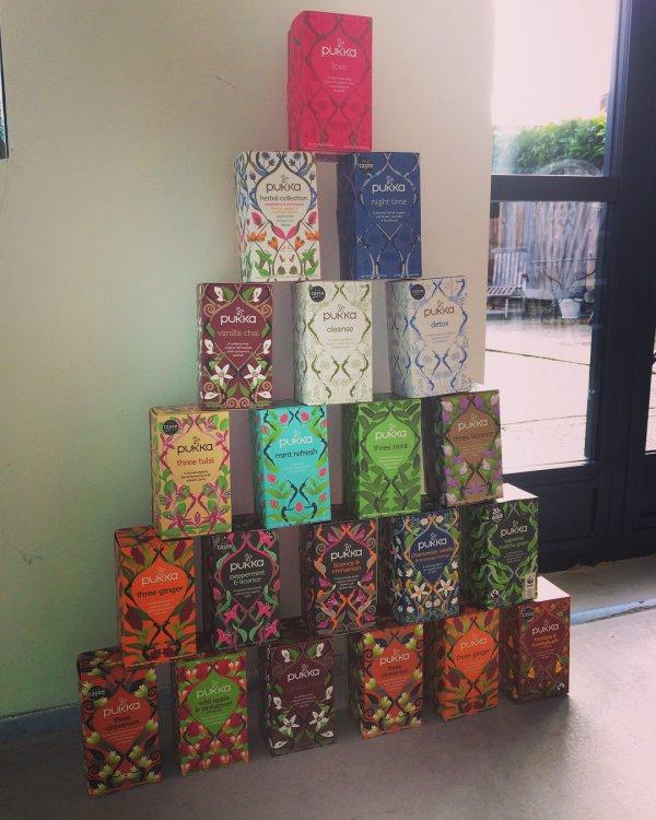 Books arranged as tree. Pic by calwaddington