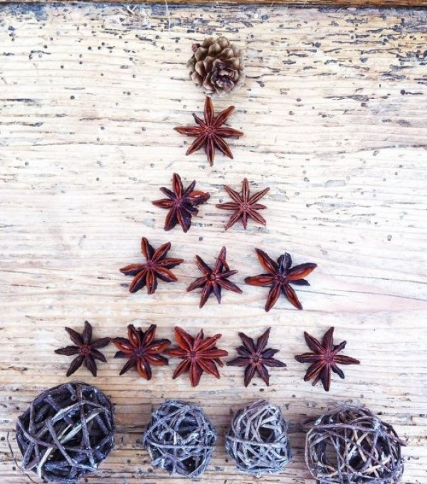 Botanics dry branches arranged in shape of Christmas tree. Pic by the_constant_gardener1