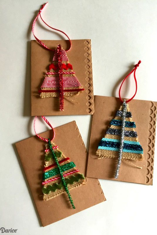 Burlap and ribbon used for card. Pic by countryliving