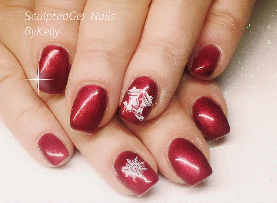 Cherry Gel Nails For Winters