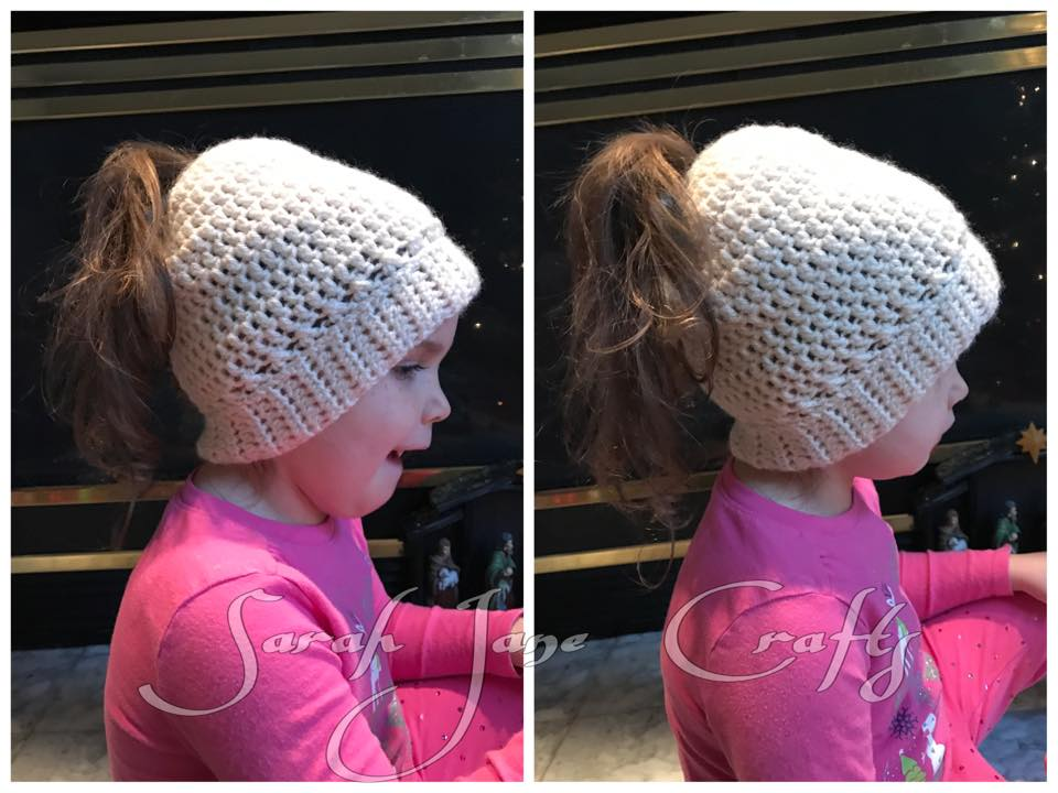 Chic Crochet Pattern Ponytail Or Messy Bun Cap