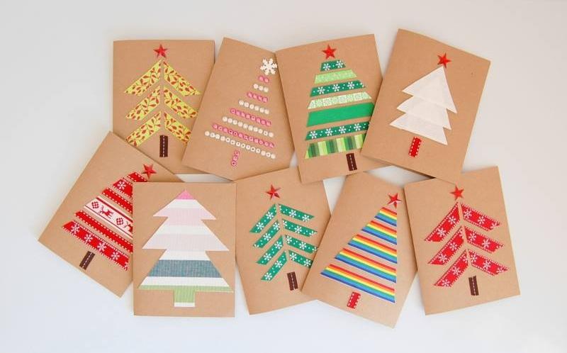 Chic Handmade Christmas Tree Card
