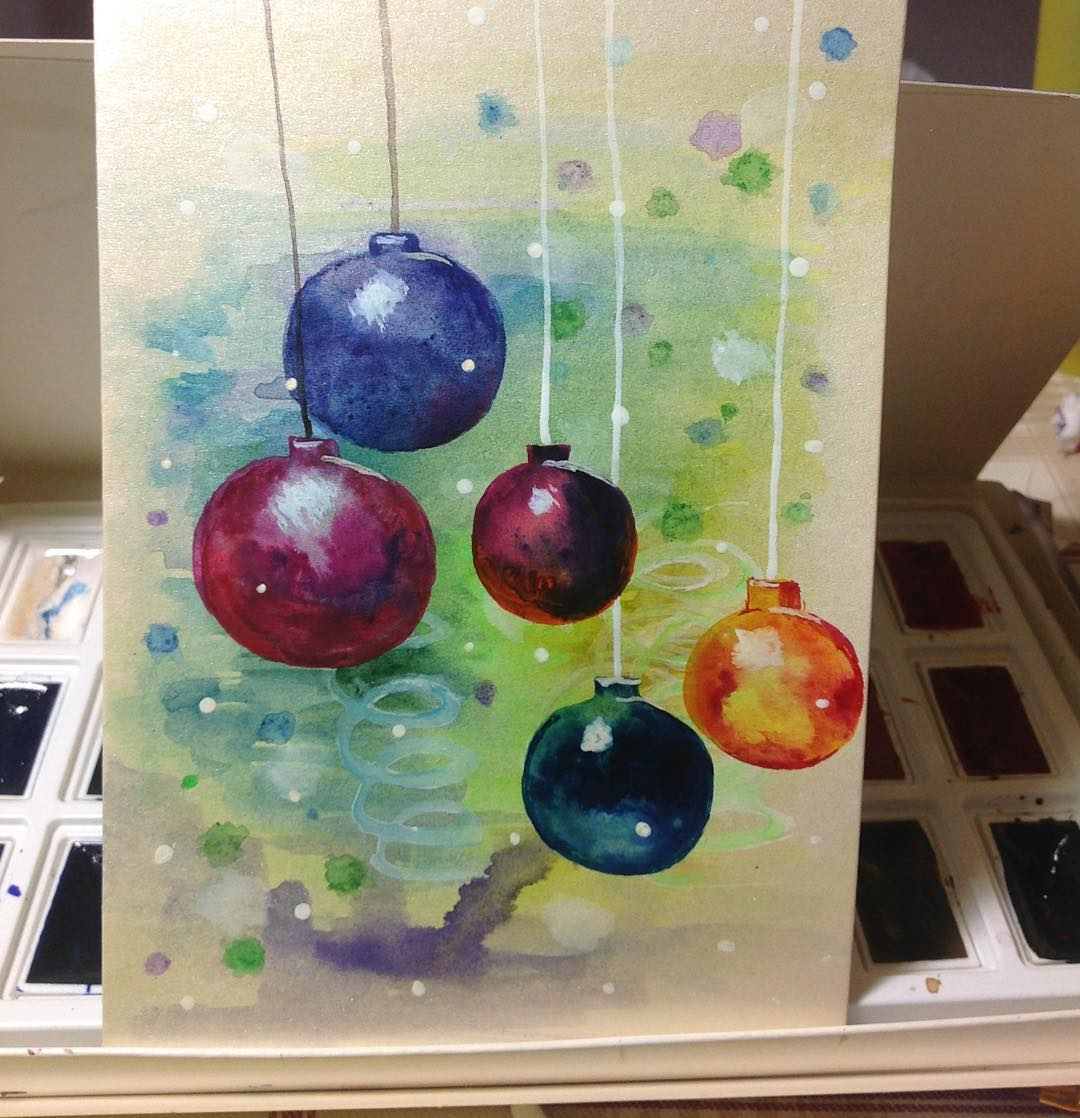 Colorful Ornaments With Watercolor