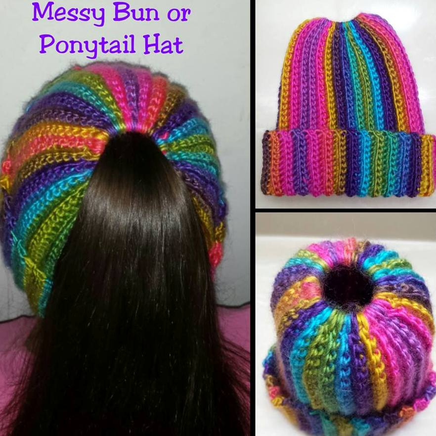 Colorful Ponytail Or Messy Bun Cap