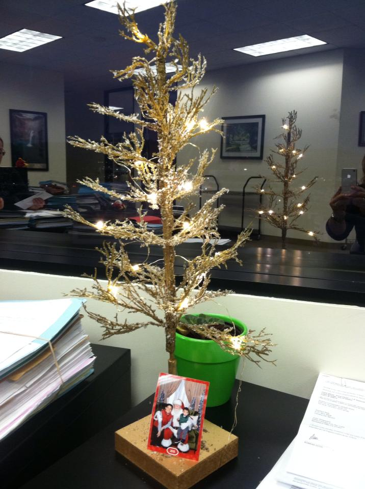 Cool Little Christmas Tree On Desk