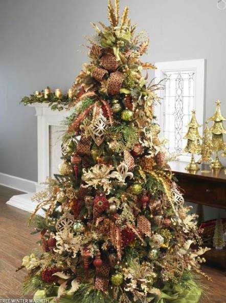Cozy Rustic Christmas Tree Decor