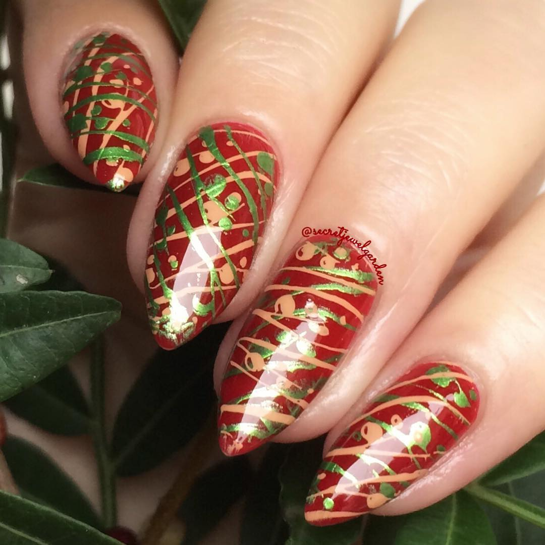 Creative Red Nail Art Design