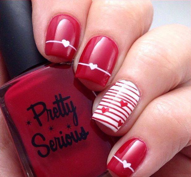 50 Cute Valentines Day Nail Art Design As A Lovely Reminder Of Love