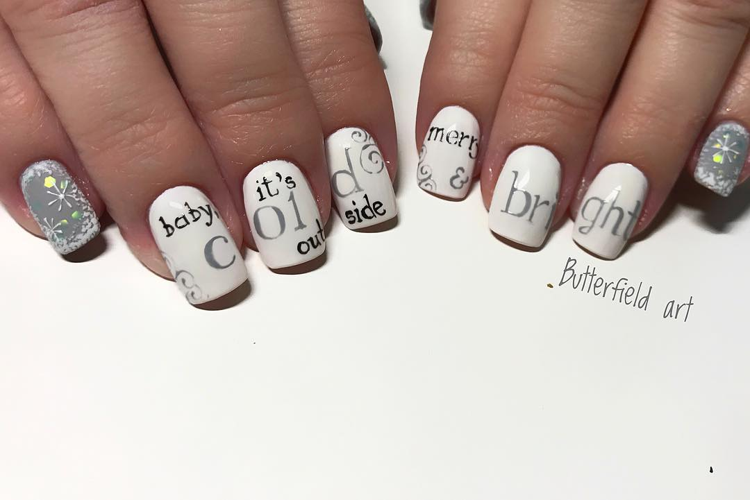 Cute Winter Nails Design