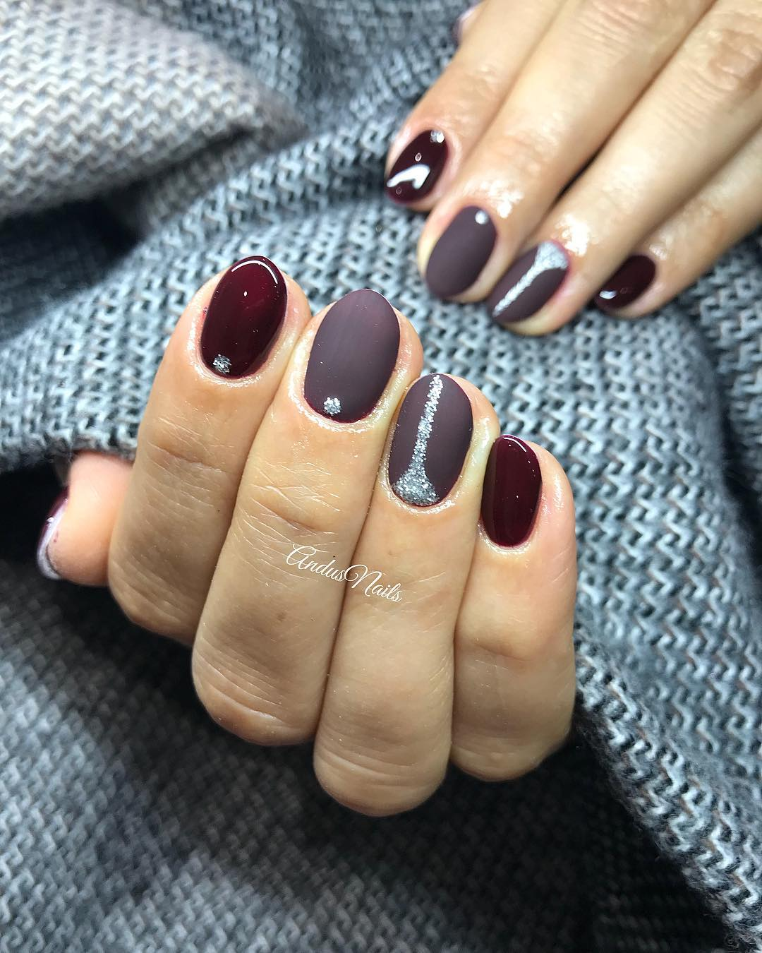 Dark Matte Nails For Winters