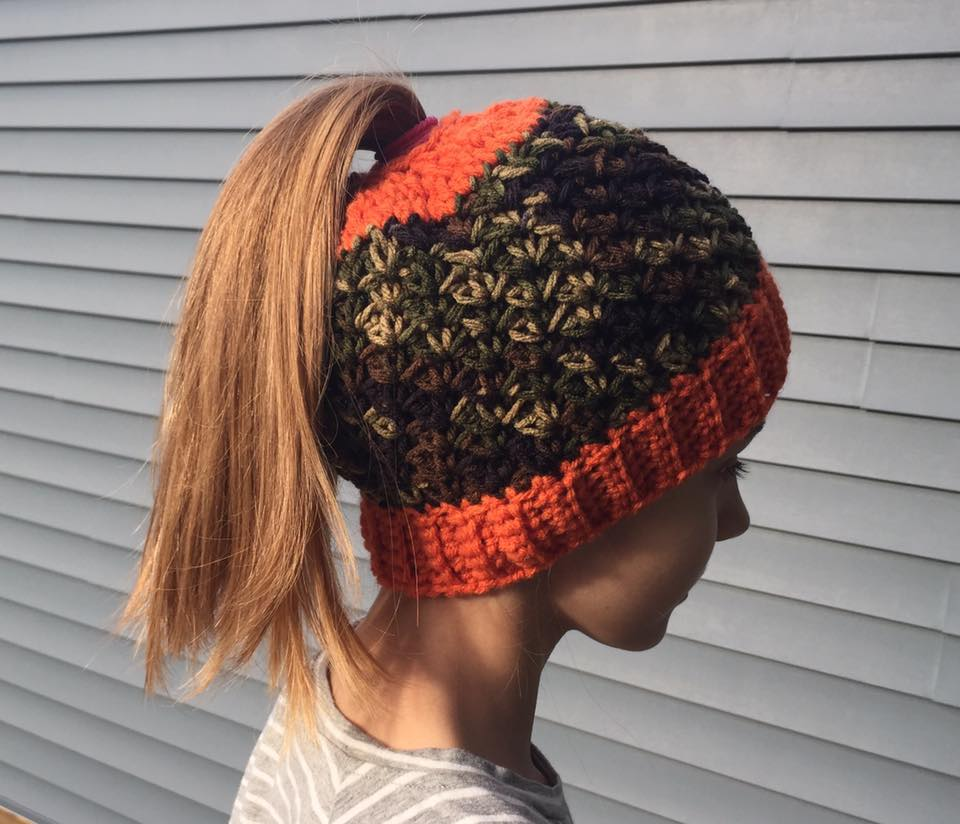 Deep Green And Orange Cap