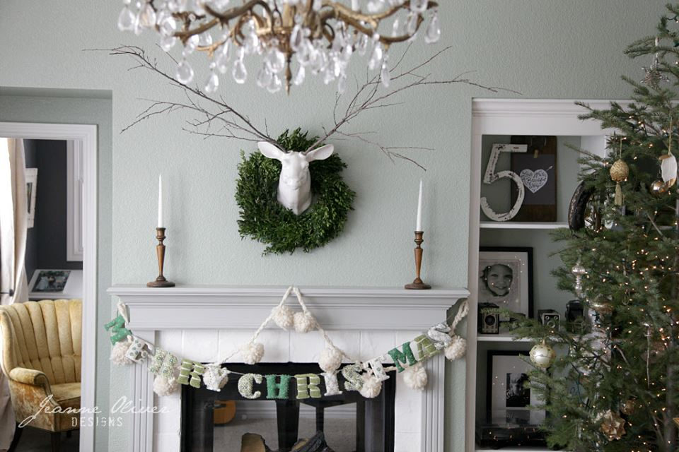 Elegant Christmas Mantel Decor With Reindeer