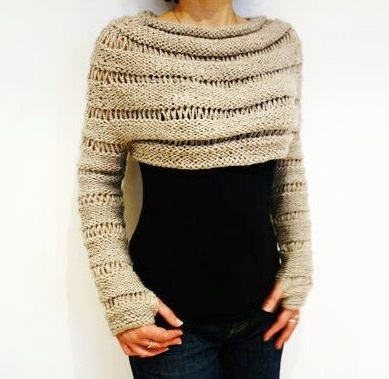 Fabulous Crop Sweater With Long Sleeves