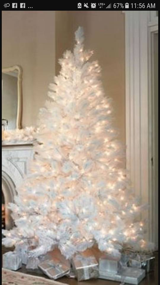 Fairy Light Is Decorating Your White Tree