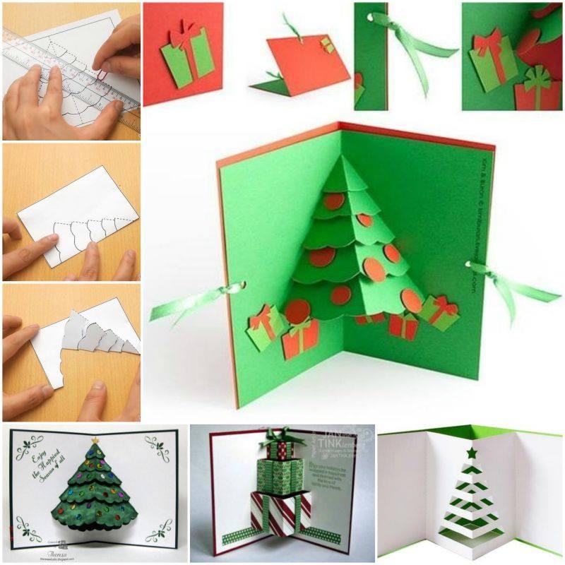 Fantastic 3D Pop Up Christmas Tree Card Idea