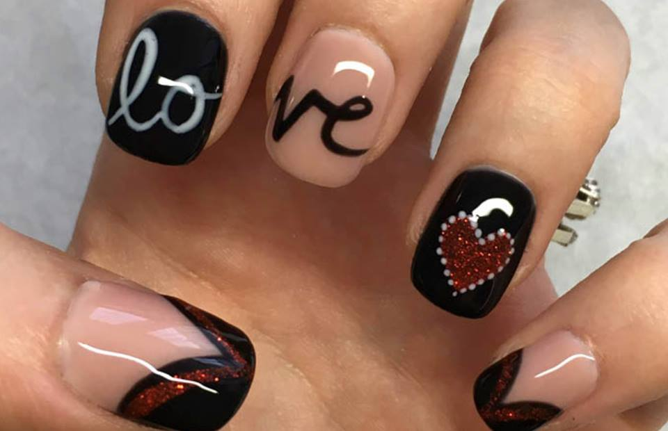 Fantastic Black Gel Nails