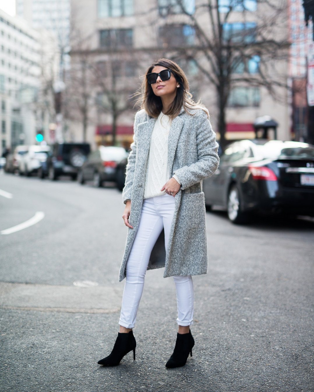Feel Warm With Beautiful Coat, Booties And Sweater