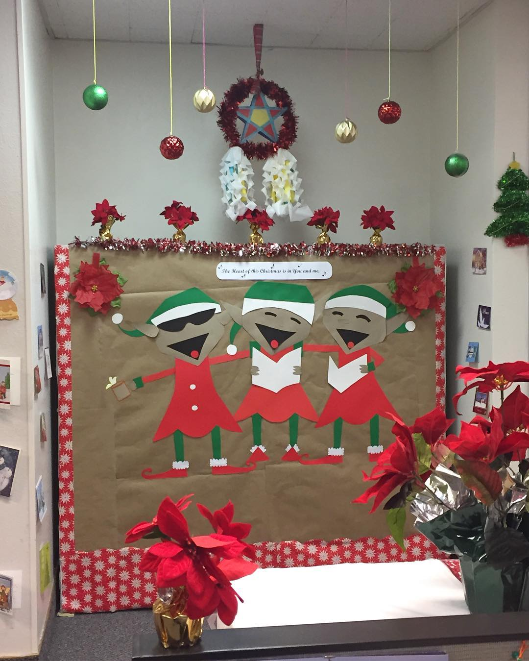 Funky Festive Decoration With Paper Craft And Hanging Ornaments