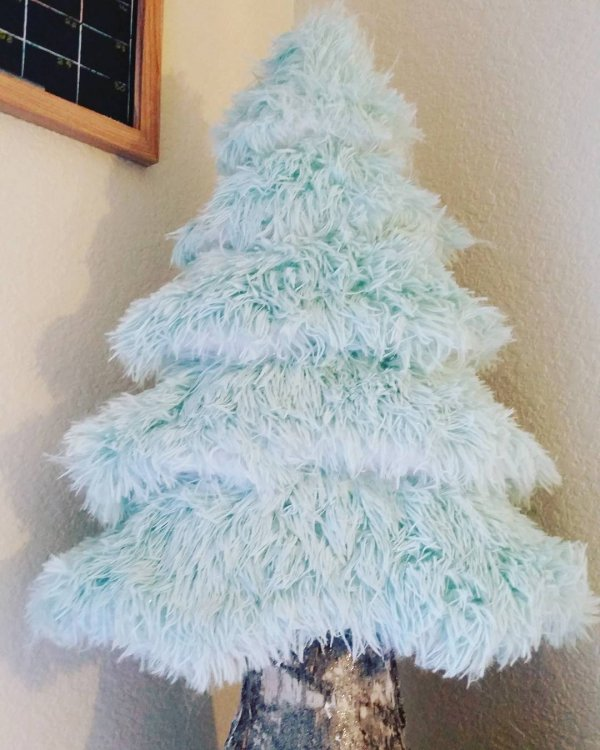 Furry Christmas tree. Pic by beenlightened