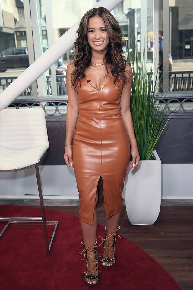 Glamorous Gingerbread Leather Outfit
