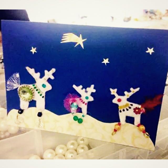 Glamorous Reindeer Card Design