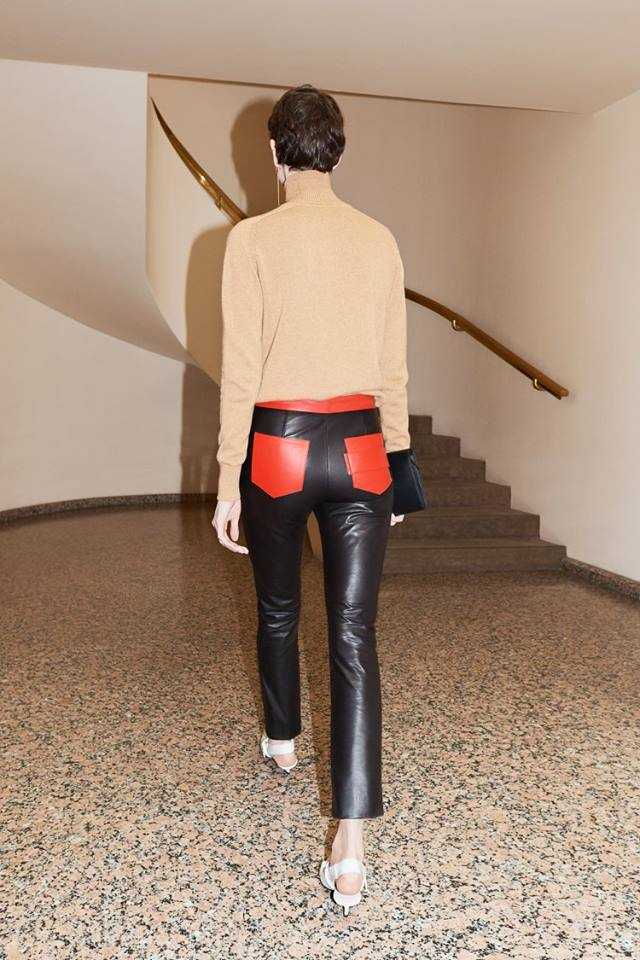 Gorgeous Leather Pant With Red Back Pockets