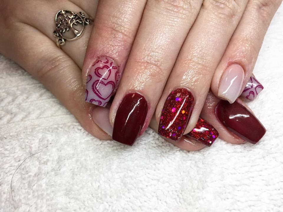 Impressive Love Theme Nails