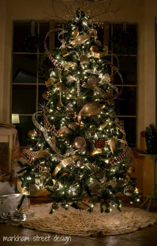 impressive rustic christmas tree decor