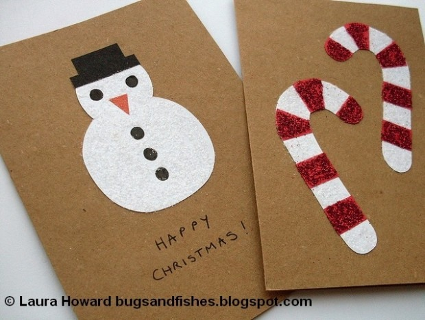 Impressive Snowman And Candy Can Card Design