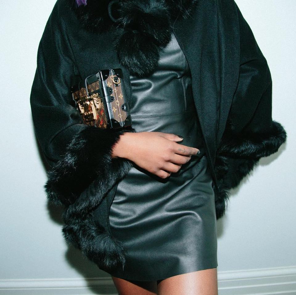 In Vogue Brunswick Green Leather Dress