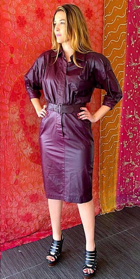 Jam Full Sleeves Leather Dress