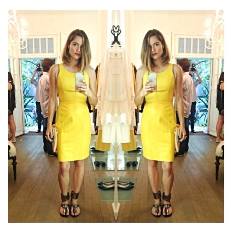 Lemon Leather Dress