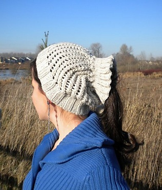 Light Grey Ponytail Or Messy Bun Cap