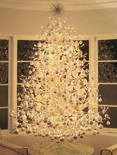 Magical White Christmas Tree With White Ornaments