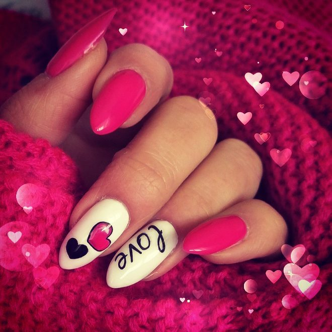 Marvelous Pink & White Nails