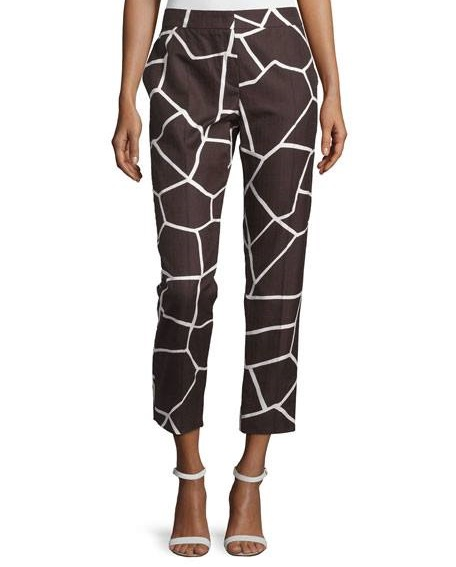Marvelous Giraffe Print Cropped Pant With Ankle Strap Shoes