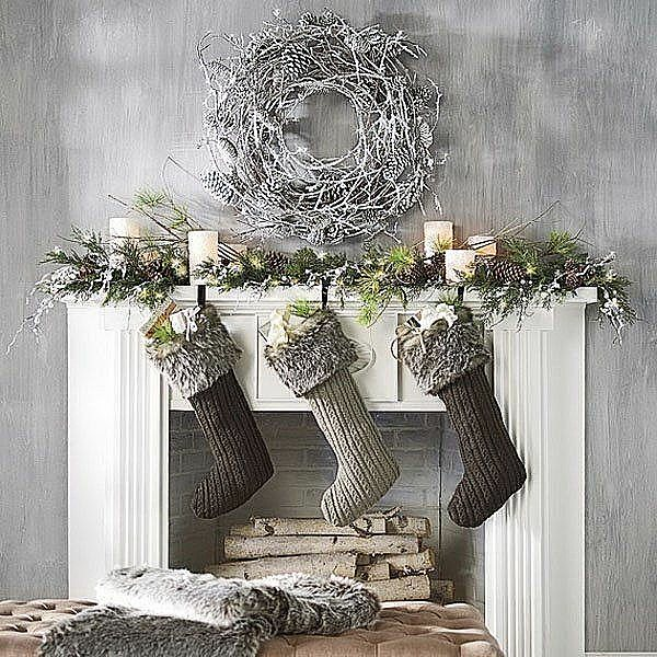 Modern Touch Vintage Style Christmas Mantel Decor