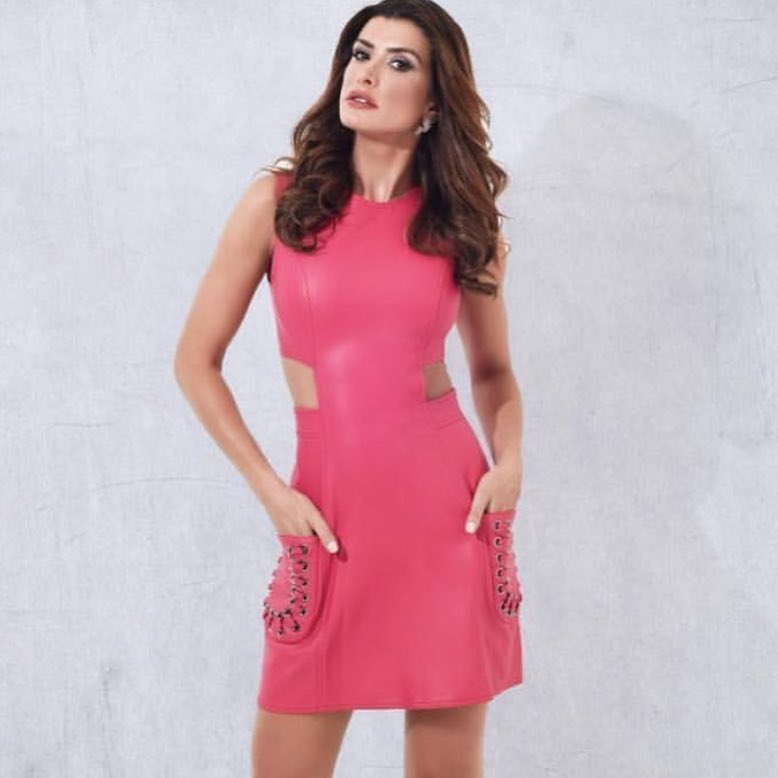Pink Leather Midi With Front Pockets