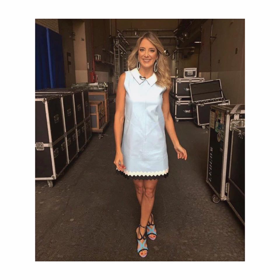 Powder Blue Leather Dress