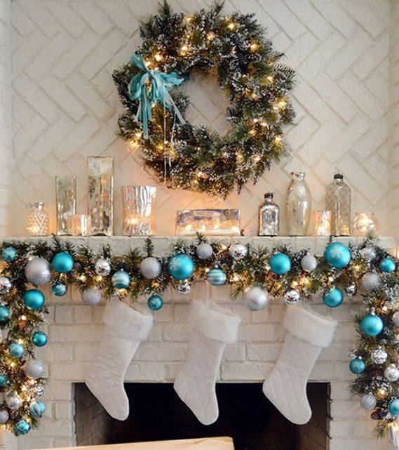 Pretty Christmas Mantel Decor