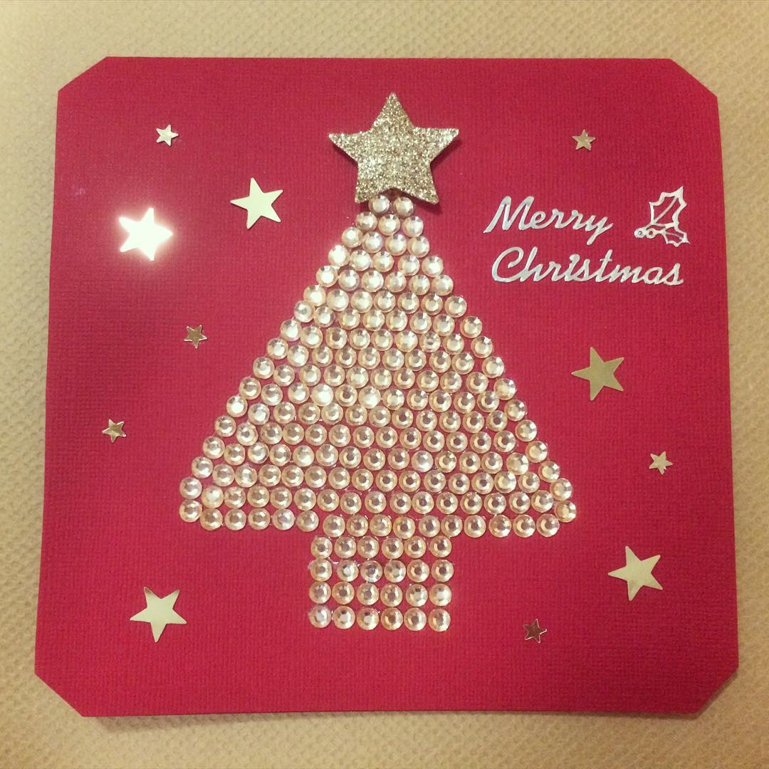 Pretty Pink Merry Christmas Card