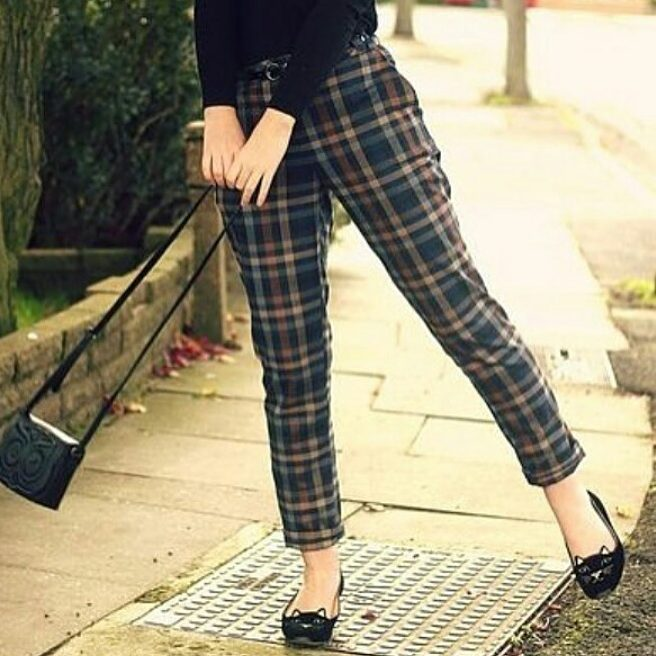 Pretty Vintage Gingham Style Cropped Pant
