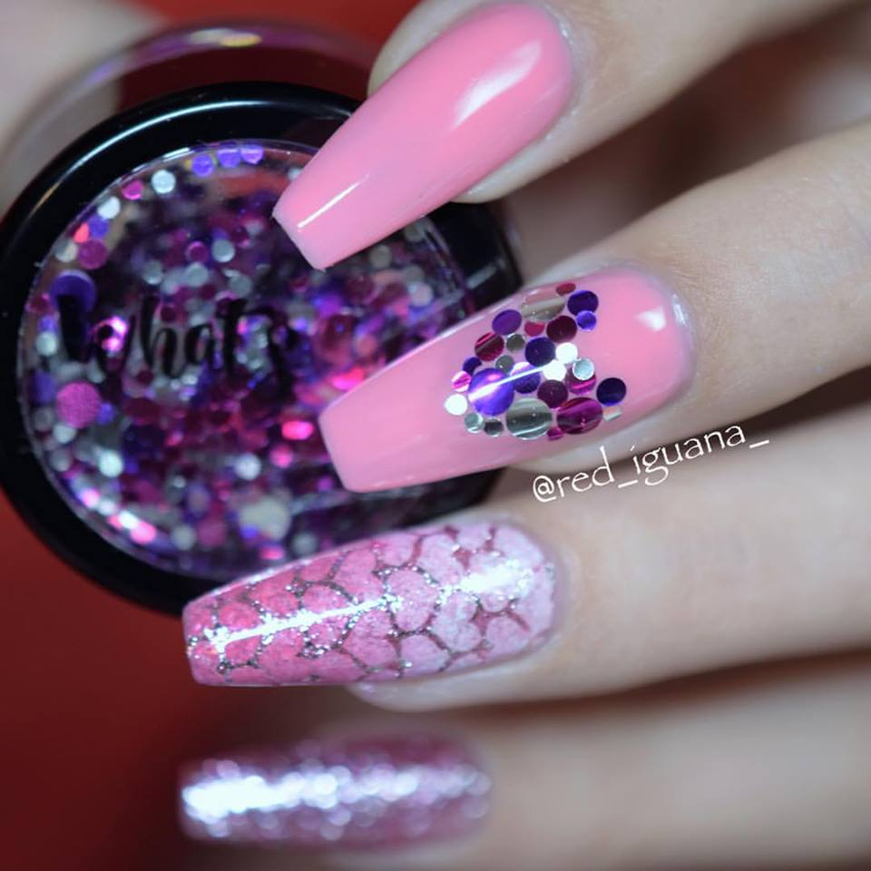 Ravishing Baby Pink Sparkle Nails