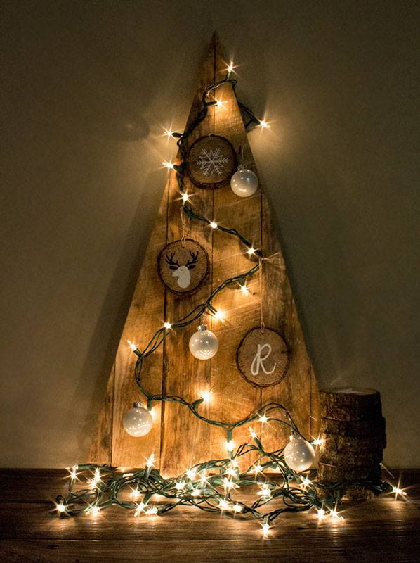 Reclaimed wooden Christmas tree.