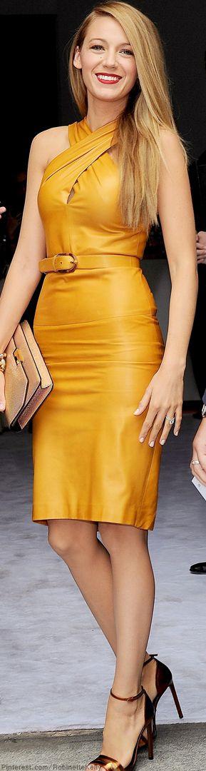 Rocking Butterscotch Leather Dress
