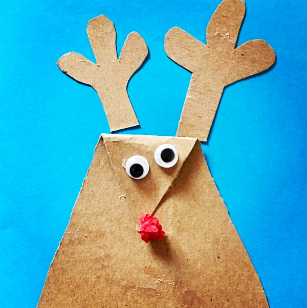 Rudolph DIY Christmas card. Pic by mrsruthiewebb